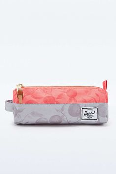 Herschel Supply co. Settlement Pencil Case in Grey and Red