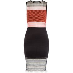 Alexander Wang Knitted Stretch Dress ($1,445) ❤ liked on Polyvore featuring dresses, multicolor, see through dress, alexander wang, stretch dress, alexander wang dresses and slimming dresses