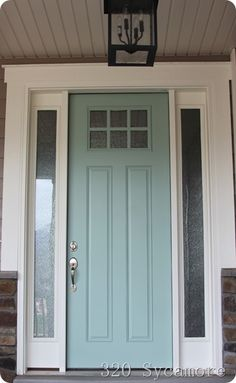 Curb Appeal {Front Door Inspiration + Paint Colors} | Favorite Paint Colors Blog Tidewater by Martha Stewart