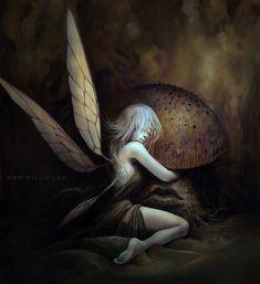 Mushroom Faerie by nell-fallcard.deviantart.com on @DeviantArt
