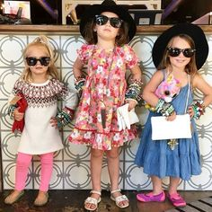 How fashionable are these cuties?! Cheeky Peach girls in training!