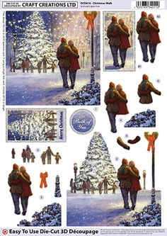 Craft Creations A4 die cut decoupage - Christmas Walk