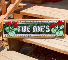 Custom Mosaic Sign / Plaque  Name Address Save the by BeadedGlass, $148.00