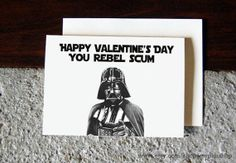 Valentine's Day Star Wars themed card// Happy by StephiiShop, $4.00 // vday gift idea // gift for him // funny valentines day card