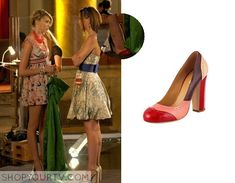 aaaa6de264f2 Jenny Humphreys (Taylor Momsen) wears these red and pink colorblock heels  in this episode of Gossip Girl They are the Miu Miu Spectator Heels.