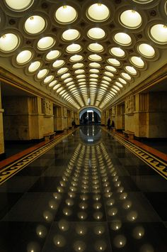 Moscow's metro stations are unlike any others I've seen. Each a work of art.