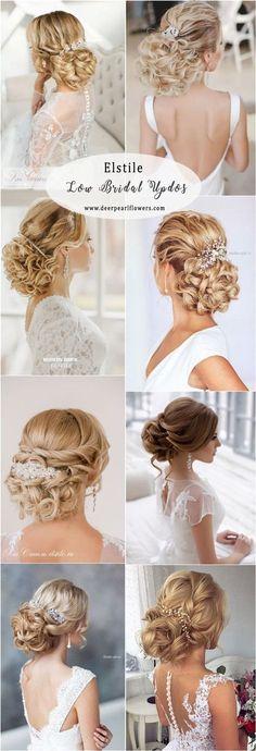 Elstile Long Low Wedding Updos #weddings #weddingideas #hairstyles #weddinghair ❤️ http://www.deerpearlflowers.com/elstile-wedding-hairstyles/