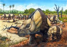 A herd of Toxodon by Maurílio Oliveira