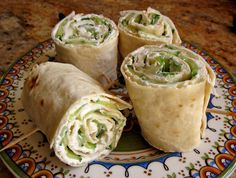 Christina's Cucina: Cucumber and Cream Cheese Sandwich Rolls (with Lavash Bread)