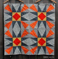 simple modern baby quilt - Wombat Quilts