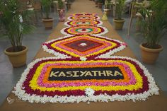 Flower decorations for Kasiyathra.   According to the Hindu traditions the male child goes to Kasi in search of knowledge and Wisdom. But the bride's father convinces him to come back and marry his daughter.