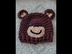 TUTORIAL-Newborn baby bear beannie-Facem caciulita ursulet nou nascut - YouTube