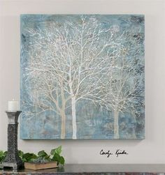 Uttermost Muted Silhouette Canvas Art - MyBarnwoodFrames.com