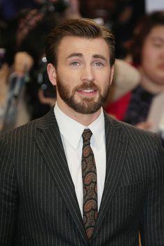 Chris Evans, Captain America: The Winter Soldier Premiere in London