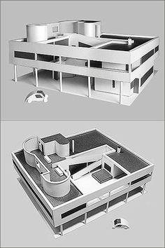 Paper Landmark Le Corbusier Villa Savoye Construction Model Kit - NEW