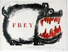 [Mai 1968]. Frey. Atelier des Beaux-Arts [?] : [affiche] (Variante rouge) / [non…