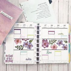 Switching it up again in my social media Classic this week with some beautiful floral stickers from Plan with … Planner Tips, Planner Layout, Bill Planner, Passion Planner, Happy Planner, Digital Bullet Journal, Day Planners, Personal Planners, Planner Decorating