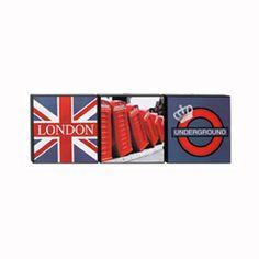 Chambre d'ado : coussin, tapis et lampe style London pour une déco so british ! - Set de 3 toiles qui rappelle bien évidemment la capitale britannique. Dimensions : L.20xH.20 cmPrix : 11,99 euros. - Les ados raffolent de la déco qui fait référence à la capitale britannique. Découvrez notre sélection d'objets déco estampillés Londres.