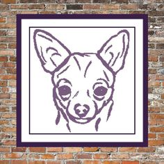 Chihuahua a Counted Cross Stitch Pattern by WooHooCrossStitch