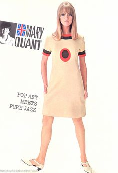 Retro Fashion Pattie Boyd in a Mary Quant creation using a target motif 60s And 70s Fashion, 60 Fashion, Moda Fashion, Fashion History, Retro Fashion, Fashion Models, Vintage Fashion, Fashion Design, British Fashion