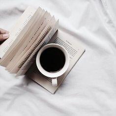 Coffee. Book. Bed. Beautiful.