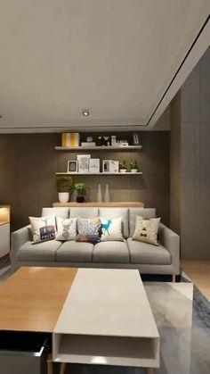 Interior Home Design - Modern Interior Design Minimalist, Small House Interior Design, Small Room Design, Apartment Interior Design, Tiny House Design, Modern House Design, Small Studio Apartment Design, Interior Design Videos, Apartment Layout