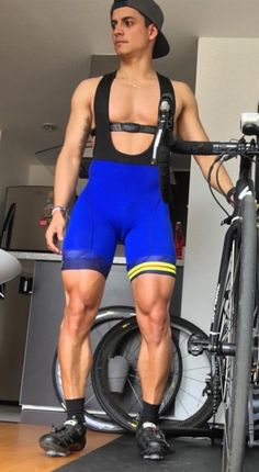 Bi_cyclistnetn On Kik Gym Guys, Soccer Guys, Lycra Men, Lycra Spandex, Gym Gear For Men, One Piece Clothing, Muscular Legs, Portrait Photography Men, Hunks Men