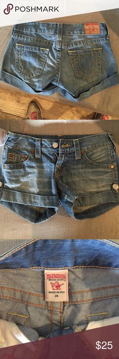 True religion jean shorts! True religion Jean shorts. Real authentic. Size 26. True Religion Shorts Jean Shorts