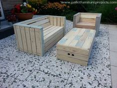 outdoor lounge furniture with pallets