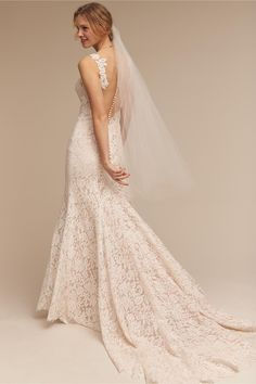 BHLDN's Eddy K Carson Gown in Ivory/champagne