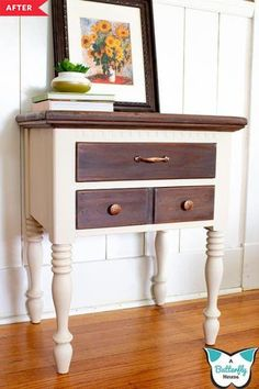 7 Two-Tone Furniture Redos for When You Just Want a *Little* Paint, diy furniture redo, Two Tone Furniture, Diy Furniture Redo, Diy Furniture Projects, Refurbished Furniture, Furniture Decor, Modern Furniture, House Projects, Redoing Furniture, Diy Projects