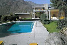 "The Edgar Kaufmann ""Vacation"" Home, Palm Springs, CA, designed by Richard Neutra, 1946 California Architecture, Modern Architecture, Modern Contemporary Homes, Midcentury Modern, Casa Kaufmann, Palm Springs Mid Century Modern, Palm Springs Style, Modern Pools, Desert Homes"