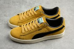 0f0c44299355 Legit Cheap Mens Puma Suede Classic Archive Yellow Sneakers 365587-03 Pumas  Shoes