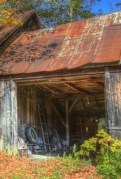 Rusting roof iron adds much character to an old shed or barn