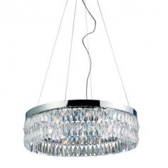 Polished chrome 8 Light contemporary crystal Chandelier