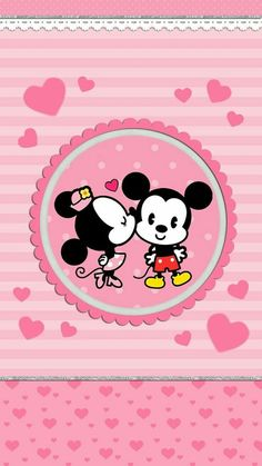 Mickey & Minnie   love, cute and pink