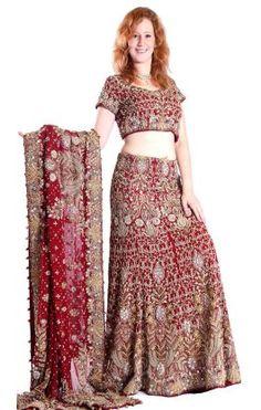 47357a30fc4 Ganga - SÁRÍ A SPOL. - KOLOVÁ POLOSÁRÍ - Svatební indické šaty - lehenga  kp949