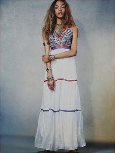 Jourdan Dunn Wears Free People's Spring Dresses for New Shoot