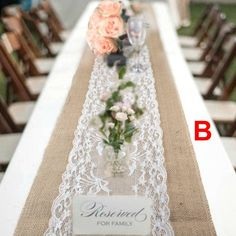 Lace Tablecloth Wedding, Burlap Lace Table Runner, Lace Runner, Burlap Table Runners, Picnic Table Wedding, Wedding Table Runners, Burlap Chair, Burlap Tablecloth, Wedding Reception Tables