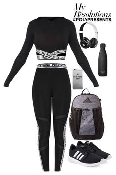 """""""#PolyPresents: New Year's Resolutions"""" by cwazyjayjay on Polyvore featuring adidas, S'well, Beats by Dr. Dre, contestentry and polyPresents"""