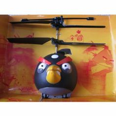 """RC Toy Angry Birds I/R Aerocraft Remote Control Flying Helicopter with Gyro Black Sold By Maxwell Global Trading by Maxwell Global Trading. $43.99. Intelligentized R/C system. steady flight,360 performance. indoor and outdoor flight. battery protection board. with flight & sound. Specifications: Product package size: 18*12.5*9cm Battery: 6*""""AA""""size(not included) Remote control distance: 8-15 meters Charging time: 40-50 minutes Material: ABS plastic and electronic co..."""