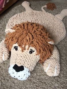 Excellent rug for nursery 🦁 Safari style looks more attractive and adventurous 🌻🎈 Your kid will be extremely happy to play with king of animals 🦁🤗 #housewares #rugpad #wool #animalprint #1stbirthday