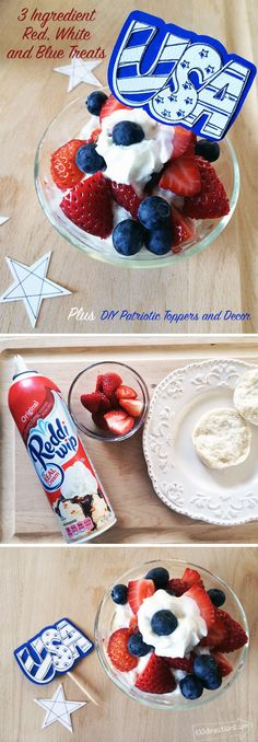 29ec78b2afd Patriotic Strawberry Treats and USA Topper Decor