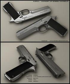 Sci-fi concept weapon: C-2911 energy hand gun.