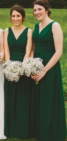 V Neck Green Chiffon Cheap Bridesmaid Dresses Online, WG768 – SposaDresses #bridesmaid #wedding #bridesmaiddresses #cheapbridesmaiddresses #weddingidea #longbridesmaiddresses #bridesmaidsdresses #greendresses Short Lace Bridesmaid Dresses, Green Wedding Dresses, Cheap Bridesmaid Dresses Online, Mismatched Bridesmaid Dresses, Cheap Homecoming Dresses, Cheap Wedding Dress, Bridal Dresses, Wedding Colors, Bridesmaids