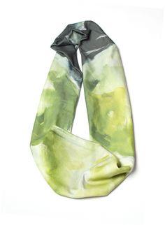 Reflections skinny infinity scarf  // organic cotton knit