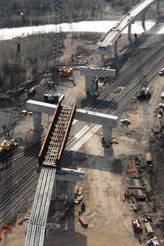 Herzog Contracting Corporation - Photo Gallery - Heavy / Highway Construction Civil Construction, Construction Contract, Engineering Works, Civil Engineering, Sandbox, Heavy Equipment, Civilization, Photo Galleries, Bridge