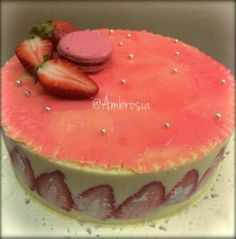 Our chef @ShradhaMalhotra introduces this incredibly pretty French cake filled with delicious strawberries and crème pâtissière- The Fraisier cake   #Strawberries #Cream #Pink #Fraisier #Cakes #ParisianTreats #FrenchCakes #Pastries #FoodLove #Ambrosia