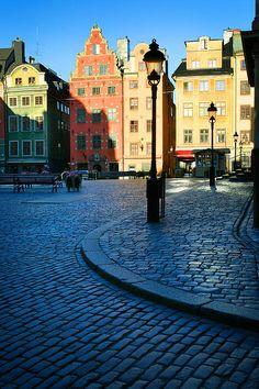 Stockholm Stortorget Square Print By Inge Johnsson