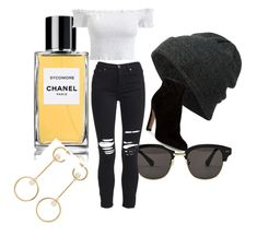 """""""Untitled #5"""" by towelashete on Polyvore featuring Chanel, Gentle Monster, Neff, AMIRI, Gianvito Rossi and Chloé"""